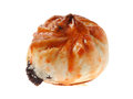 Char siu bun close up of isolated on white background Stock Photos