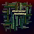 Character Building Word Cloud