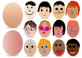 Character decoration egg for Easter day Royalty Free Stock Photo