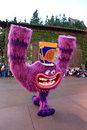 Character from disney s monsters inc purple the animated movie called walking in a parade at disneyland california adventure park Royalty Free Stock Photo