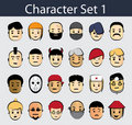 Character Icon Set 1 Stock Photography