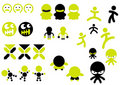 Character icons Royalty Free Stock Photo