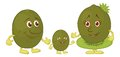 Character kiwi fruit Royalty Free Stock Photo