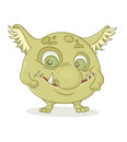Character monster colored on a white background Stock Photography