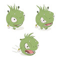 Character monsters colored monster on a white background Royalty Free Stock Photography