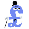 Character national currency pound sterling UK Royalty Free Stock Photo