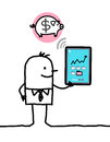 Character With Tablet - Bank