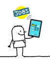 Character with tablet - jobs