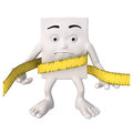 Character with tape measure Royalty Free Stock Photos