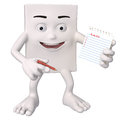 Character with a to do list Royalty Free Stock Image