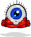 Character Types -Eyeball Meditating Royalty Free Stock Image