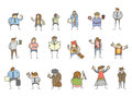 Character various poses Royalty Free Stock Images