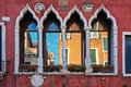 Characteristic Venetian windows Royalty Free Stock Photo
