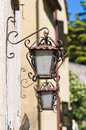 Characteristic wall lanterns. Stock Photography