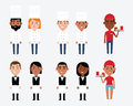 Characters Depicting Catering Occupations Royalty Free Stock Photo