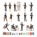 Characters design set of business people man and woman, office workers or directors, professional teams. Mascots in Royalty Free Stock Photo