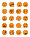 20 characters icons set 2 orange
