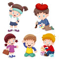 Characters kids cartoon Stock Images