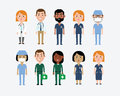 Characters in Medical Occupations Royalty Free Stock Photo