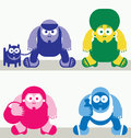 Characters vector illustration with people street Royalty Free Stock Image