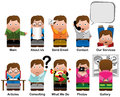 Characters for web sites cute categories in Stock Images