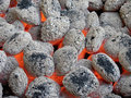Charcoal briquettes Royalty Free Stock Photo