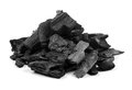 Charcoal isolated on white Royalty Free Stock Photo