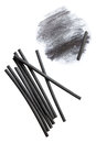 Charcoal sticks for drawing with smudge Stock Photography