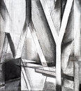Charcoal study for an abstract painting Royalty Free Stock Photo
