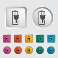 Charging the battery single icon vector illustration Stock Image
