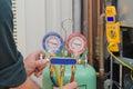 Charging HVAC system. Royalty Free Stock Photo