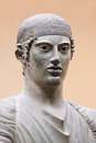 The charioteer of delphi greece Stock Images
