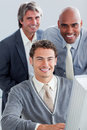 Charismatic business partners working together Royalty Free Stock Photos