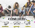 Charity Donations Fundraising Nonprofit Volunteer Concept Royalty Free Stock Photo