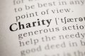 Charity fake dictionary dictionary definition of the word Royalty Free Stock Photography