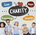Charity Give Assistance Care Volunteer Support Concept Royalty Free Stock Photo