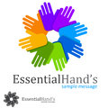 Charity logo concept hand people symbol Royalty Free Stock Photos
