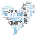 Charity word cloud and volunteering Royalty Free Stock Photos