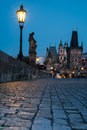 Charles bridge i prague Arkivfoto
