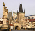 Charles Bridge and Lesser Town Stock Image