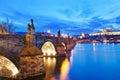 Charles bridge moldau river lesser town prague castle prague unesco czech republic Stock Photography