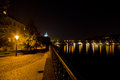 Charles bridge at night Stock Photography