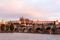 Charles bridge in old prague czech republic Stock Photos
