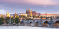 Charles bridge in old prague czech republic Stock Photo