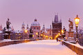 Charles bridge old town bridge tower prague unesco czech r republic europe Stock Image