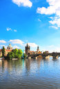 Charles bridge prague czech republic Stock Photos