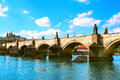 Charles bridge in prague czech republic Royalty Free Stock Image