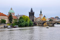 Charles bridge in prague czech republic Stock Photography