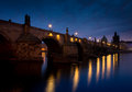 Charles bridge in prague early morning Royalty Free Stock Image