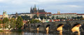 Charles bridge in prague at sunrise Royalty Free Stock Images